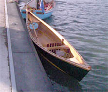 Stringybark, the Wooden Boat Association's one-man canoe