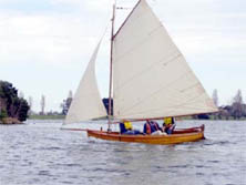 Begonia, one of the boats owned by the Wooden Boat Association